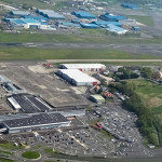 Glasgow Prestwick Airport - aerial shot