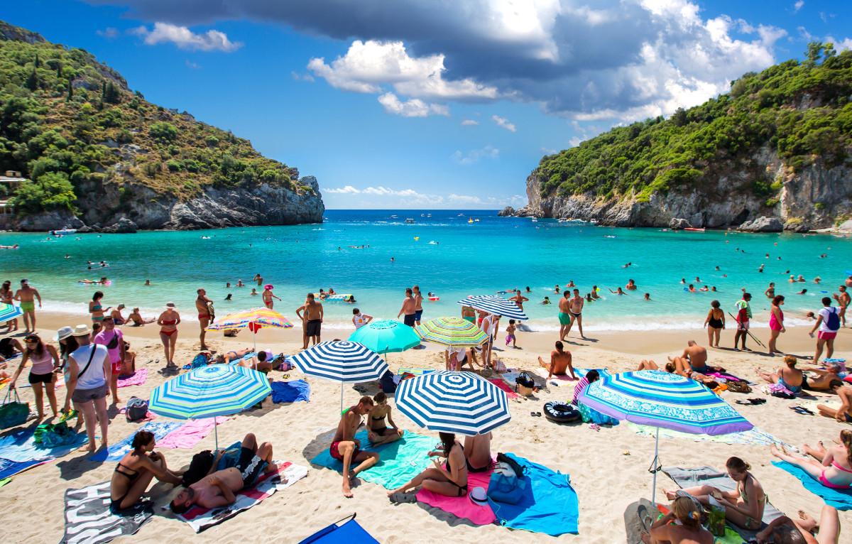 Paleokastritsa beach - fly to Corfu