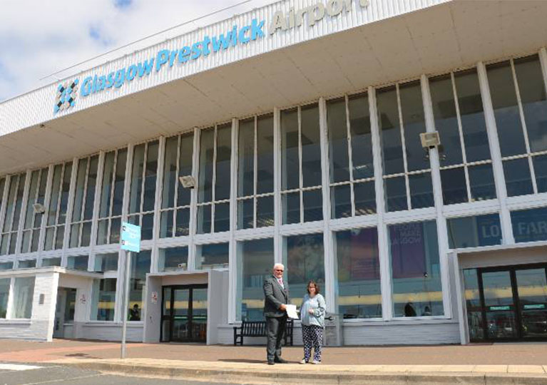 Jenny sets her sights high for Glasgow Prestwick Airport