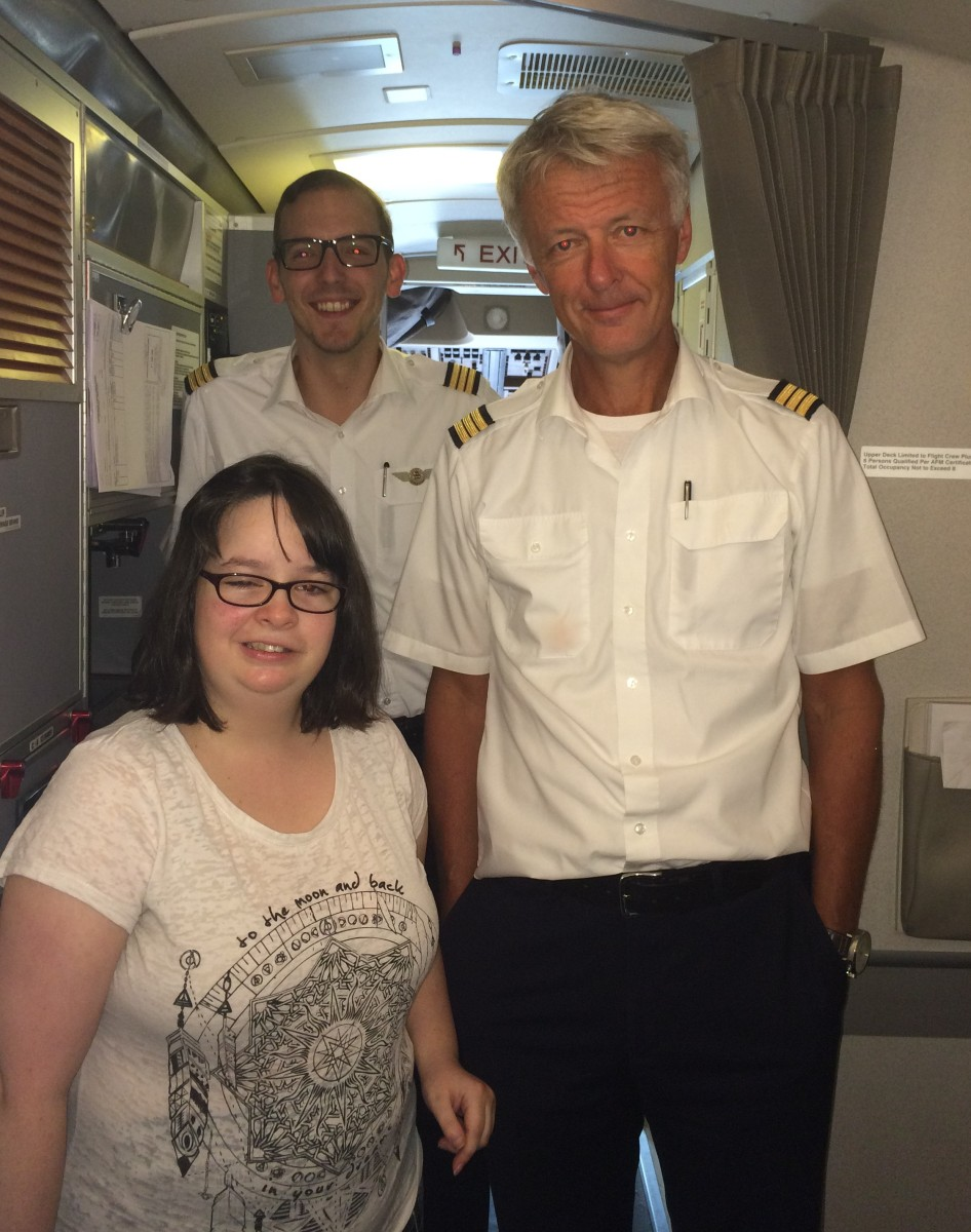 Cargolux help deliver Jenny's dream at Glasgow Prestwick Airport