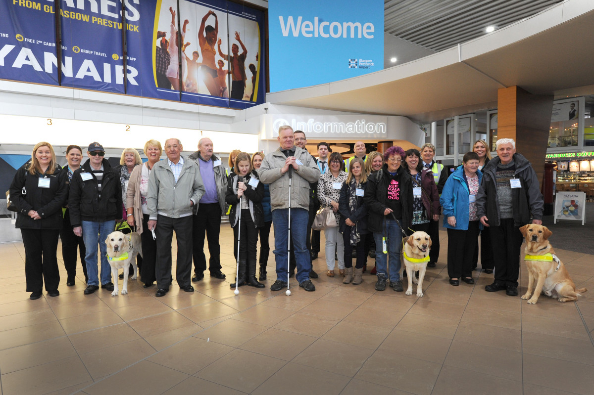 Glasgow Prestwick Airport host morning for people with sensory impairments