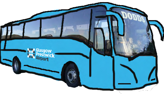 Glasgow Prestwick Airport puts on bus service to give Glasgow residents improved access to low cost flights