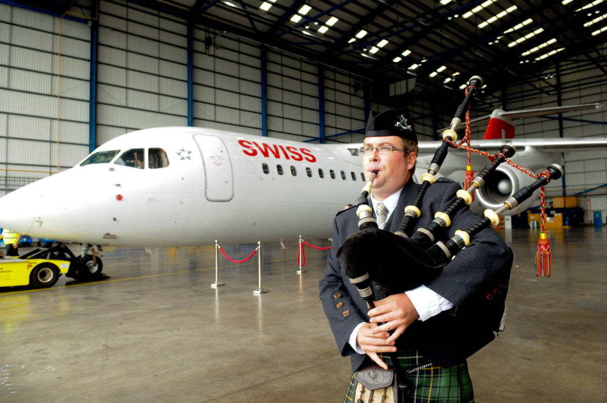 Chevron welcomes RJ's final journey for Swiss Airlines