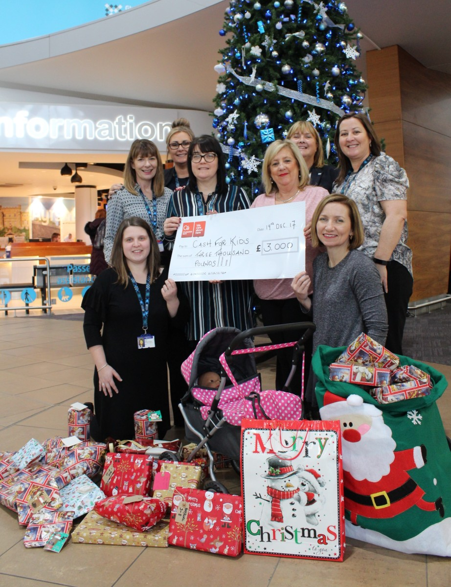 Glasgow Prestwick Airport employees raise over £5000 for Cash for Kids Charity