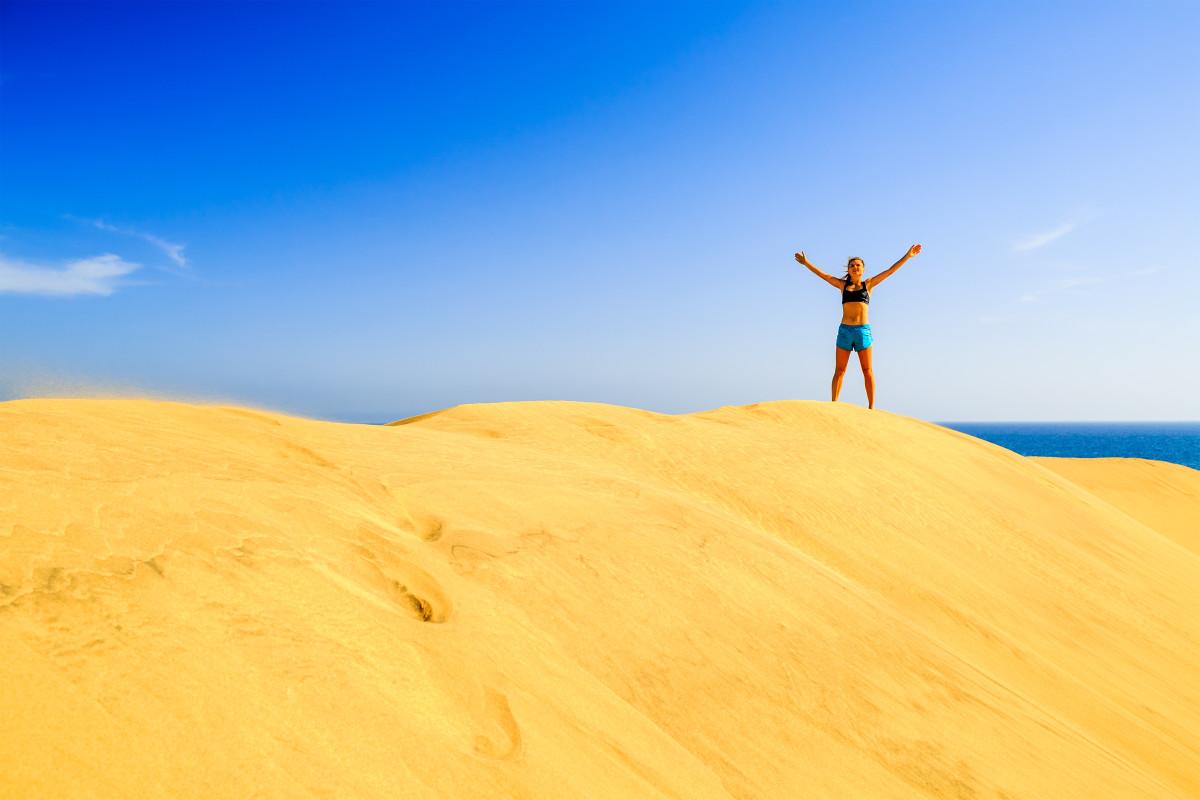 Maspalomas Sand Dunes - fly to Gran Canaria