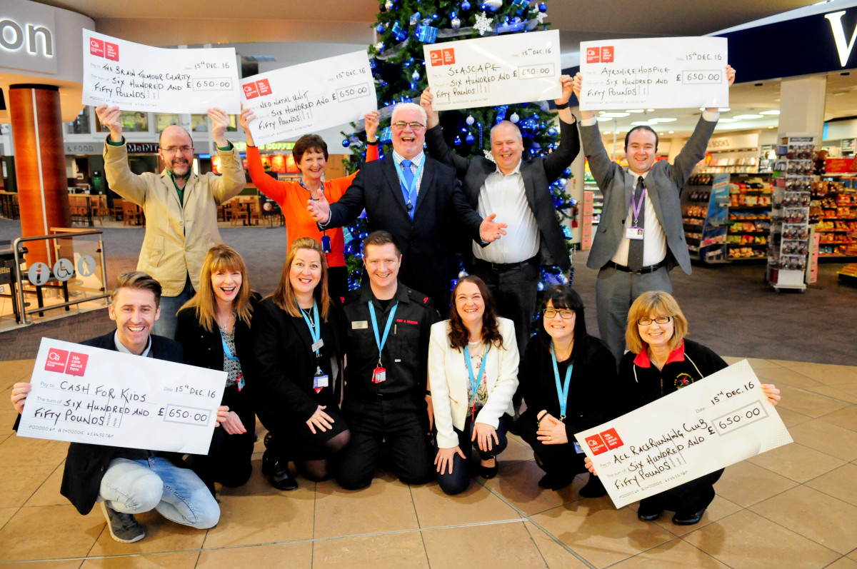 Glasgow Prestwick Airport Employees Donate 163 3 900 To Six