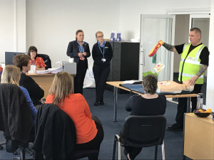 CPR and DE-Fib demo - safety week